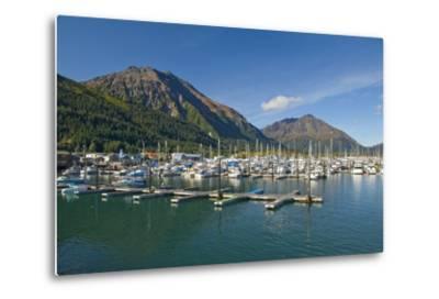 Scenic View of the Seward Small Boat Harbor on Resurrection Bay on a Sunny Day, Kenai Peninsula-Design Pics Inc-Metal Print