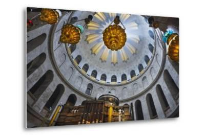 Dome Interior in the Church of the Holy Sepulchre-Jon Hicks-Metal Print