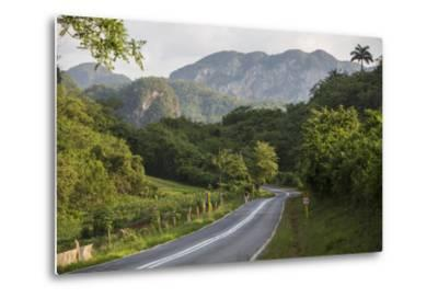 A Highway Running from Vinales to San Cayetano Through a Region known for Tobacco Farms-Michael Lewis-Metal Print