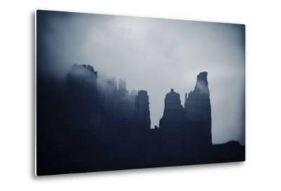 Fisher Towers in Fog, Utah-Keith Ladzinski-Metal Print