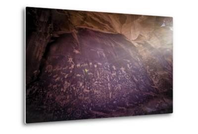 Petroglyphs on Newspaper Rock in Utah-Keith Ladzinski-Metal Print