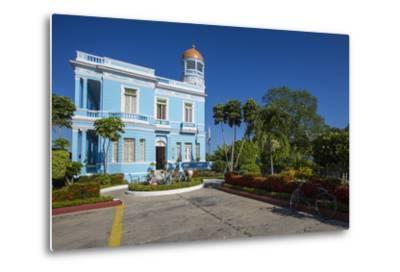 The Colorful Hostal Palacio Azul in the Punta Gorda Section of Cienfuegos-Michael Lewis-Metal Print