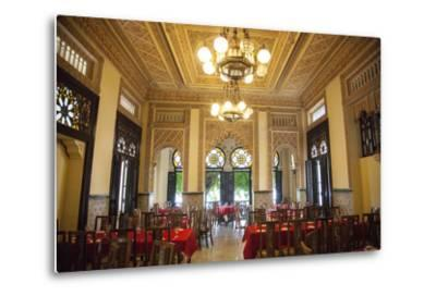 The Restaurant Palacio De Valle in the Punta Gorda Section of Cienfuegos-Michael Lewis-Metal Print