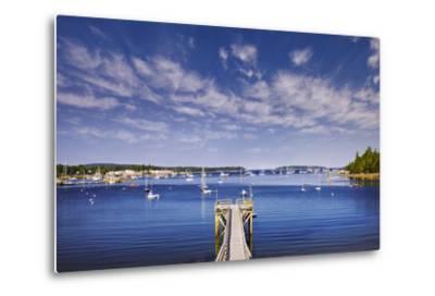 Pier near Southwest Harbor-Jon Hicks-Metal Print