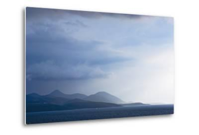 Fading Seascape of Ioninan Islands at Sunset, Ioninan Islands,Greece-Design Pics Inc-Metal Print