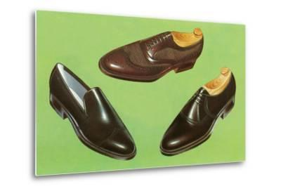 Three Men's Shoes-Found Image Press-Metal Print