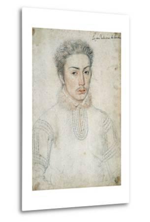 Portrait of Francois De Vendome - by Francois Clouet--Metal Print