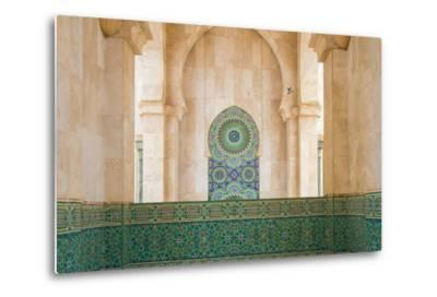 Exterior Mosaic Tile Work of the Hassan Ii Mosque-Erika Skogg-Metal Print