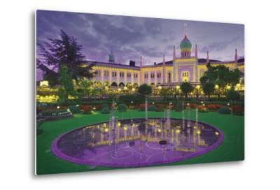 Nimb Brasserie, Tivoli Gardens, Copenhagen, Denmark; Amusement Park and Fountain-Design Pics Inc-Metal Print