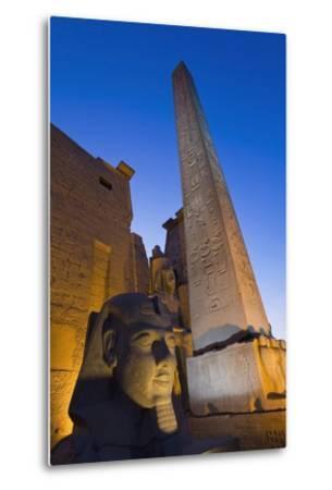 Large Pharaoh's Head Statue and Obelisk-Design Pics Inc-Metal Print
