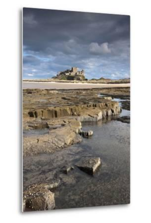 Bamburgh, Northumberland, England; Bamburgh Castle in the Distance-Design Pics Inc-Metal Print