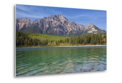 Patricia Lake and Pyramid Mountain, Jasper NP, Alberta, Canada.-Don Paulson-Metal Print