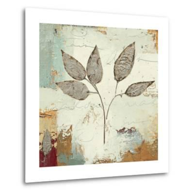 Silver Leaves III-James Wiens-Metal Print