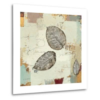 Silver Leaves IV-James Wiens-Metal Print