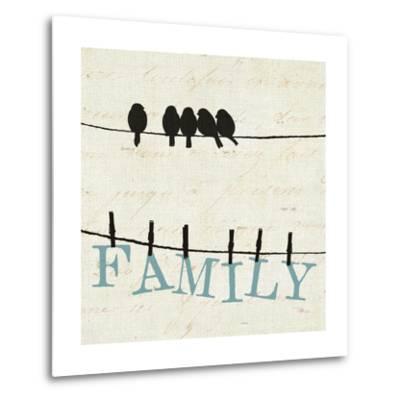 Bird Talk III-Pela Design-Metal Print