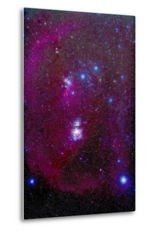 The Orion Nebula, Belt of Orion, Sword of Orion and Nebulosity--Metal Print