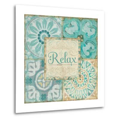 Ocean Tales Tile VI-Pela Design-Metal Print