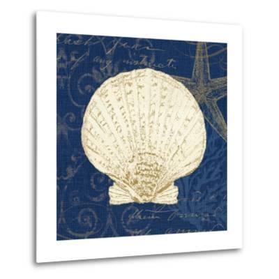 Coastal Moonlight II Teal Center-Pela Design-Metal Print