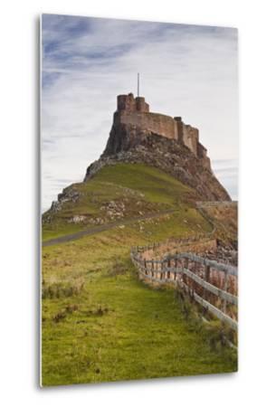 Lindisfarne Castle on Holy Island, Northumberland, England, United Kingdom, Europe-Julian Elliott-Metal Print
