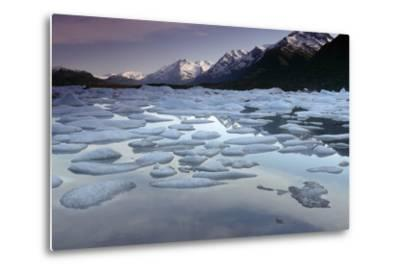 Icebergs on Lake George Chugach Mtns Sc Ak Summer-Design Pics Inc-Metal Print