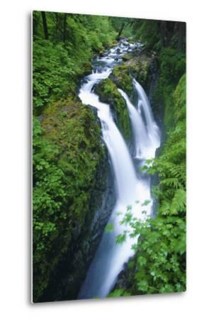 View of Sol Duc Falls in Olympic National Park, Washington-Keith Ladzinski-Metal Print