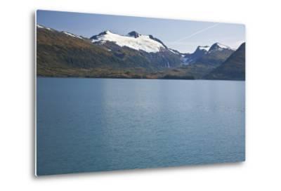 View of Cap Glacier in the Chugach Mountiains-Design Pics Inc-Metal Print