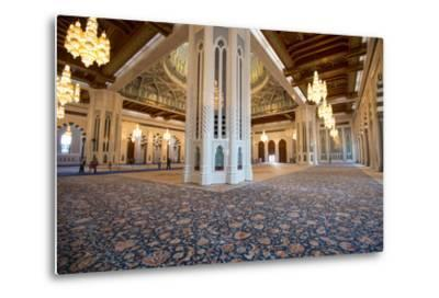 The World's Second Largest Carpet, Main Prayer Hall Floor of the Sultan Qaboos Grand Mosque-Michael Melford-Metal Print