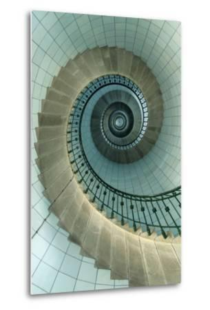 Looking Up the Spiral Staircase of the Lighthouse-Design Pics Inc-Metal Print