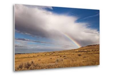 A Thunderstorm Produces a Vivid Rainbow-Jim Reed-Metal Print