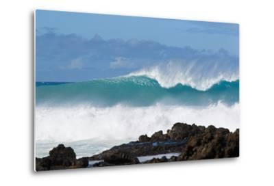 Hawaii, Maui, Laperouse, Beautiful Blue Ocean Wave-Design Pics Inc-Metal Print