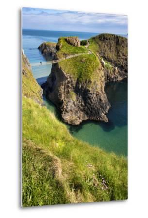 Carrick-A-Rede Rope Bridge in Northern Ireland-Chris Hill-Metal Print