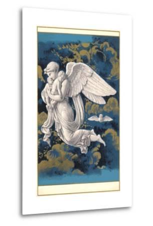 Night Angel with Children-Found Image Press-Metal Print