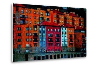 Colored Buildings-Andr? Burian-Metal Print