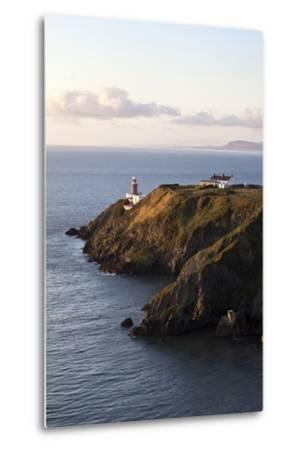 A Lighthouse on a Hill; Ireland-Design Pics Inc-Metal Print