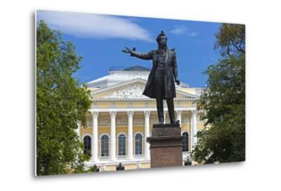 The Russian Museum.-Jon Hicks-Metal Print