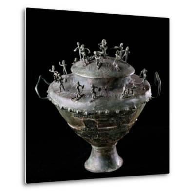 Etruscan Art : Bronze Funerary Urn--Metal Print