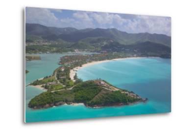 View over Jolly Harbour, Antigua, Leeward Islands, West Indies, Caribbean, Central America-Frank Fell-Metal Print