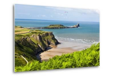 Rhossili Bay, Gower Peninsula, Wales, United Kingdom, Europe-Billy Stock-Metal Print