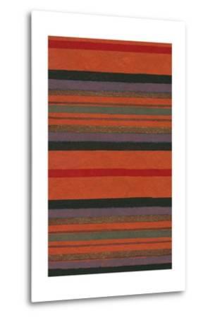 Lined Rug Pattern-Found Image Press-Metal Print