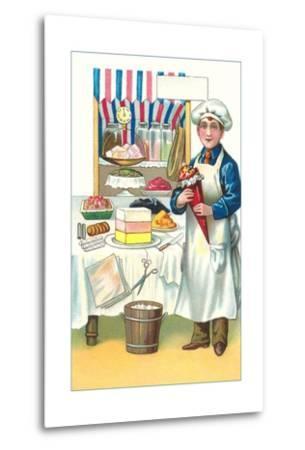 Boy with Various Desserts-Found Image Press-Metal Print