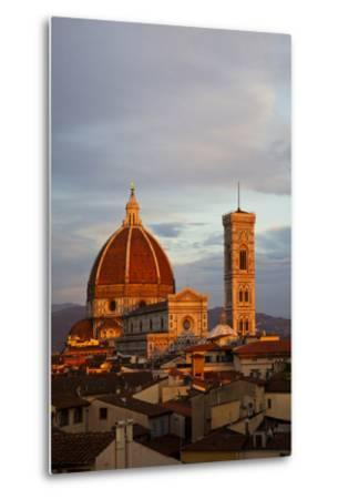 Italy, Florence, Main Duomo with evening's last light.-Terry Eggers-Metal Print
