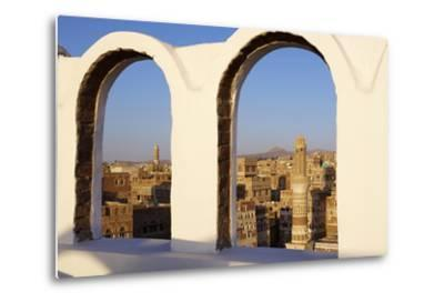 Old City of Sanaa, UNESCO World Heritage Site, Yemen, Middle East-Bruno Morandi-Metal Print