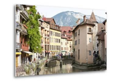 A View of the Old Town of Annecy, Haute-Savoie, France, Europe-Graham Lawrence-Metal Print
