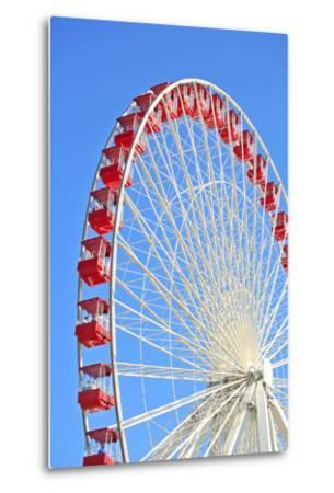 Ferris Wheel at Navy Pier, Chicago-soupstock-Metal Print