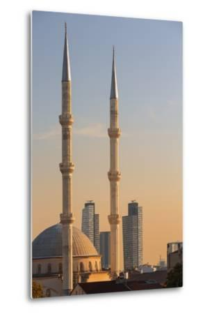 Levent Mosque at Sunset.-Jon Hicks-Metal Print