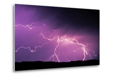 Lightning During a Storm in Yellowstone National Park-Tom Murphy-Metal Print