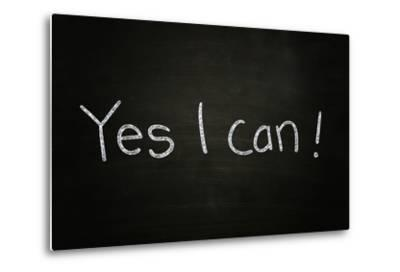 Yes I Can-airdone-Metal Print