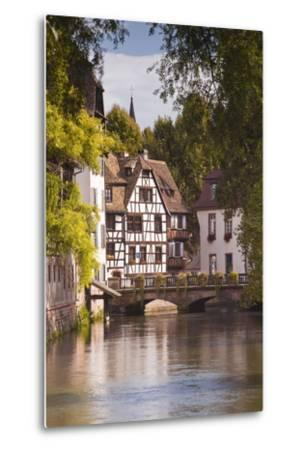 Half Timbered Houses in La Petite France-Julian Elliott-Metal Print