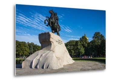 Bronze Horseman Statue in St. Petersburg, Russia, Europe-Michael Runkel-Metal Print