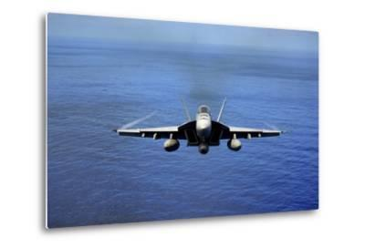 An F-A-18E Super Hornet over the Pacific Ocean--Metal Print